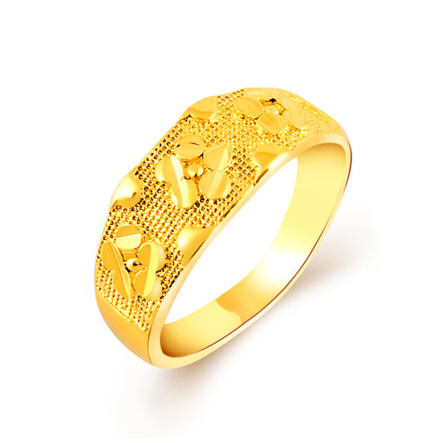 popular classical yellow gold flower ring for female smart enamel finger bohemian charms rings for woman - Woman Wedding Ring