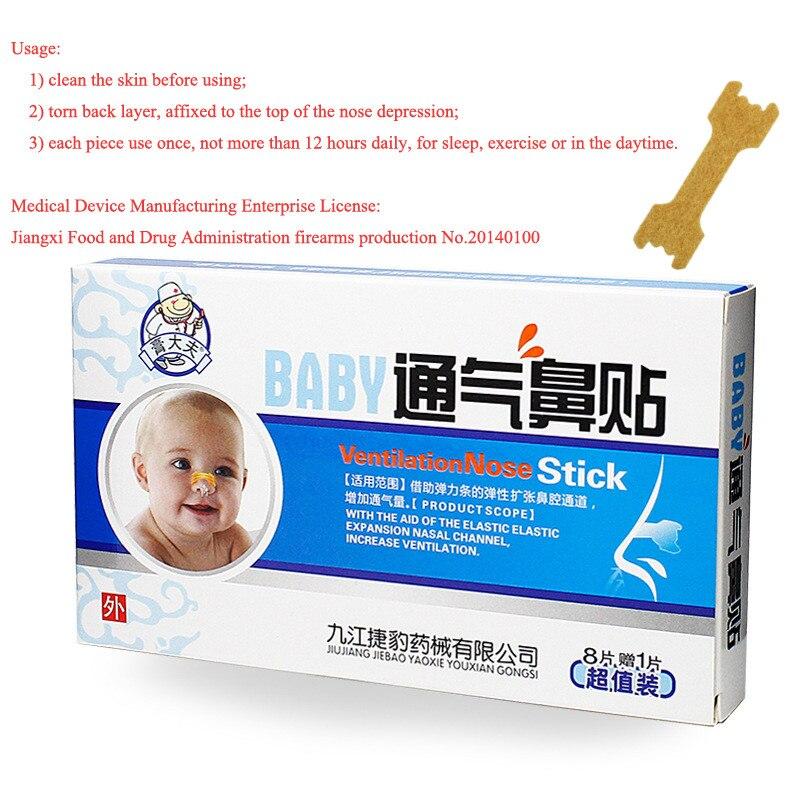 Baby Hälsa Nasal Strips Ventilation Näsa Stick Ease Nasal - Sjukvård - Foto 4