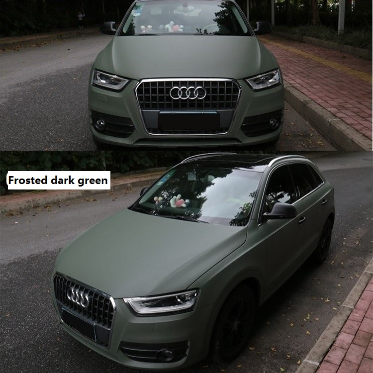 2pcs 50cm*150cm Matte Army Green Car Body Film Glossy Green Interior Styling Stickers Vinyl Wrap for Car Home Laptop Phone Use