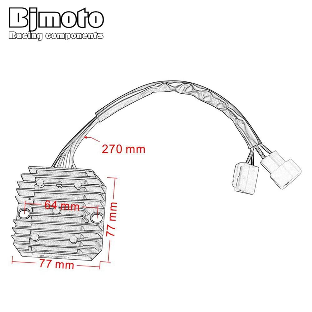 Bjmoto regulator rectifier For Hyosung 32800HN9110 32800HN9120 MS3 250  GD250N GT250 GT250R GT650R GT650S GV250 AQUILA