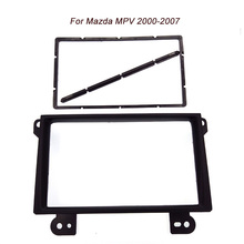 Free shipping car refitting dvd frame front bezel audio panel fascia for Mazda MPV,2DIN 2000-2007