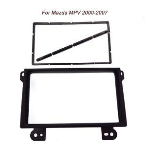 Free shipping car refitting dvd frame front bezel audio panel fascia for Mazda MPV,2DIN 2000-2007