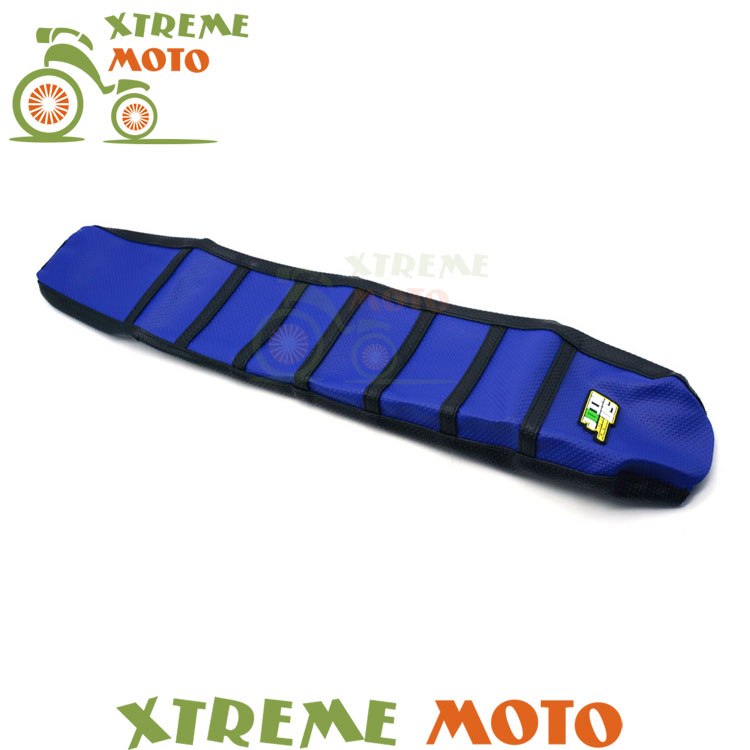 New Rubber Blue Gripper Soft Seat Cover For Yamaha YZ125 YZ250 02-16 Motorcycle Enduro Motocross Dirt Bike Off Road blue gripper soft seat cover for yamaha yzf450 yz450f yz 450f yzf 450 2010 2013 motorcycle motocross enduro dirt bike off road