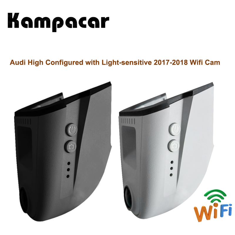 Kampacar Car Wifi DVR Dash Cam Registrator Auto Camera Recorder For Audi With Light sensitive A3