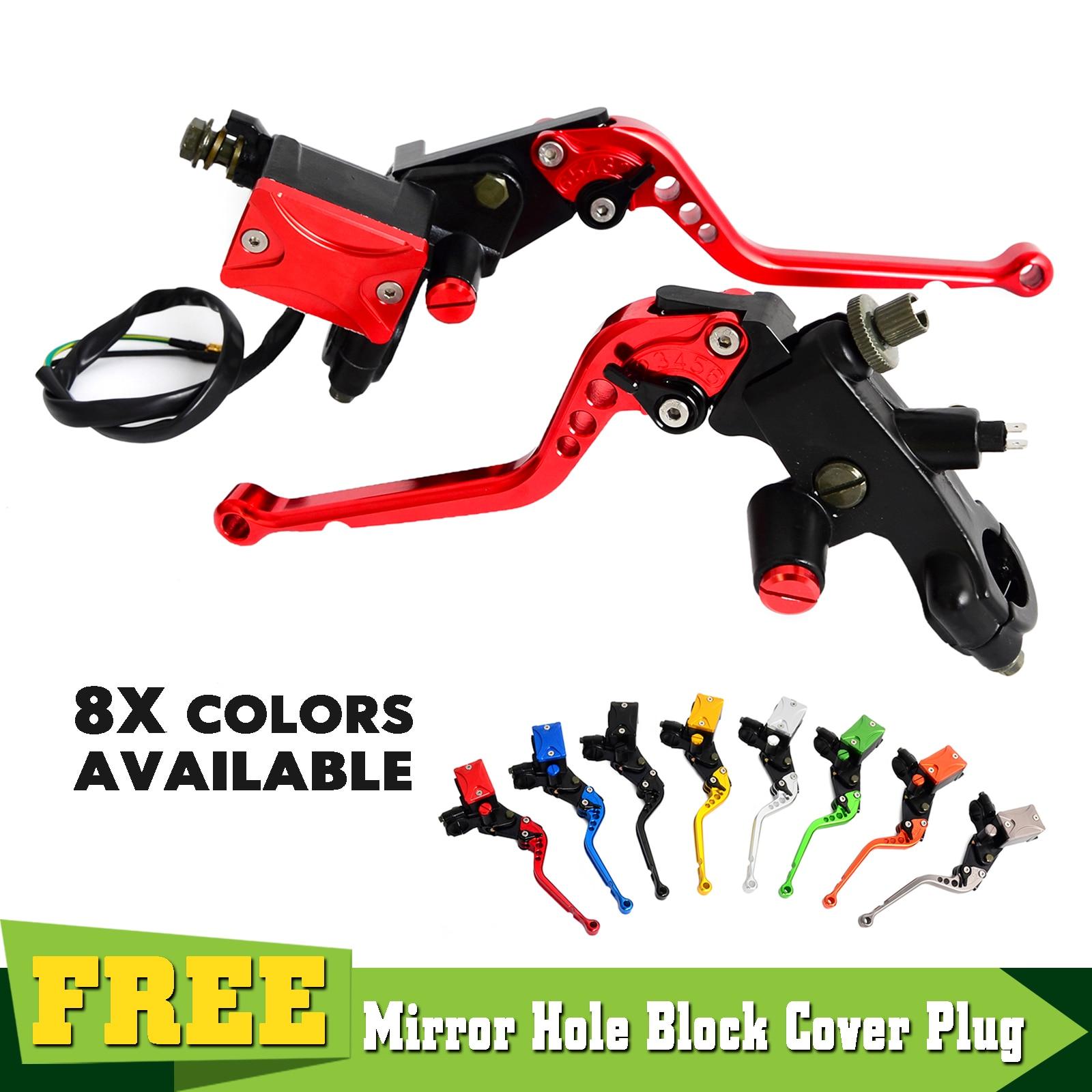 Motorcycle 7 8 Brake Clutch Lever Master Cylinder Set Kit For Honda CR80R 85R 125R 250R