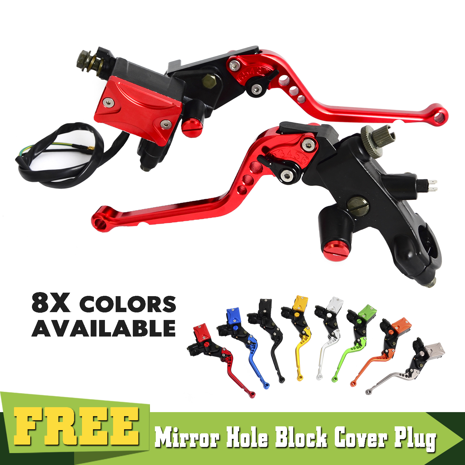 """Motorcycle 7/8"""" Brake Clutch Lever Master Cylinder Set Kit For Honda CR80R 85R 125R 250R CRF250 CRF450 150 230F 450R XR250 400-in Levers, Ropes & Cables from Automobiles & Motorcycles    1"""