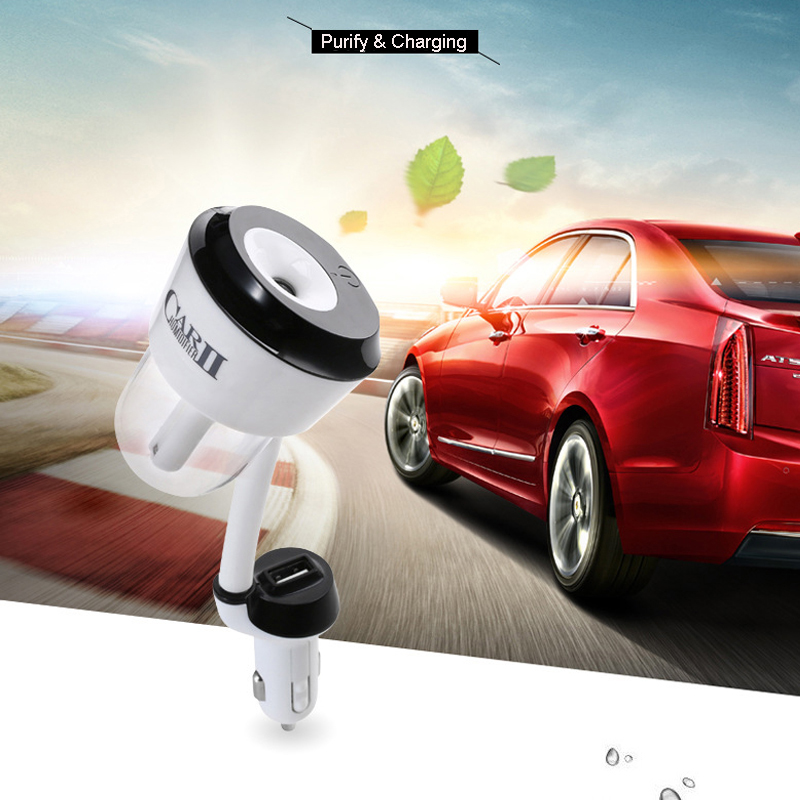 цена на 50ML Mini Car Humidifier Aroma Essential Oil Diffuser Air Purifier 2 USB Ports Aromatherapy Portable Cool Mist Maker Fogger