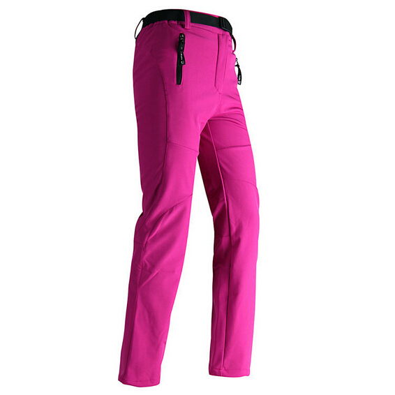 Women Hiker Pants Fleece Waterproof Ladies Snow Pants 2017 New Fashion Thermal Trousers Zippered Pockets Free Shipping