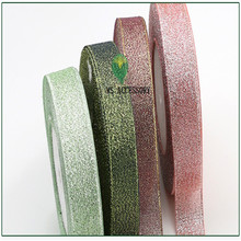 4 roll free shipping gold and silver ribbon for candy box gift packing bouquet