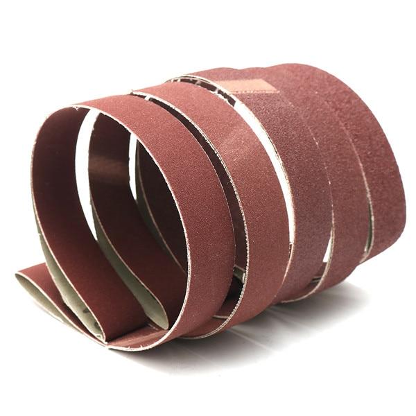 5pcs Sanding Belts 80/100/150/240/320 Grit Sandpaper 1