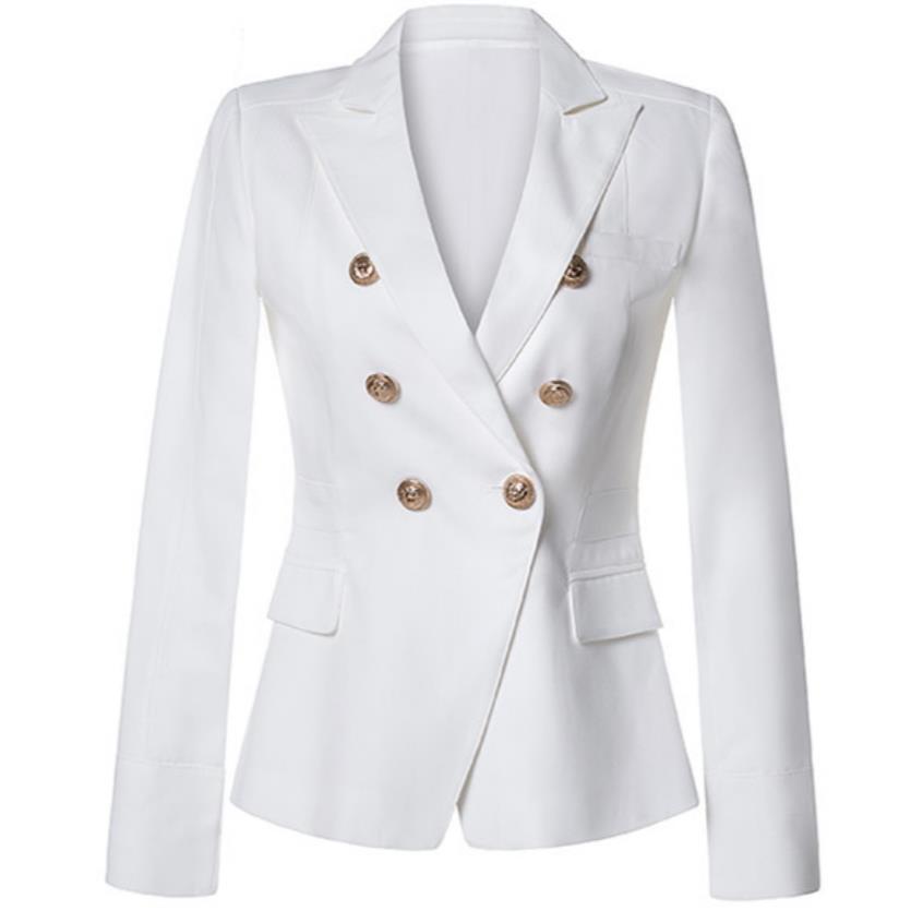De Or S Blazer blanc À Noir xxl Taille Femmes Double Boutonnage Boutons dRwrERq8x