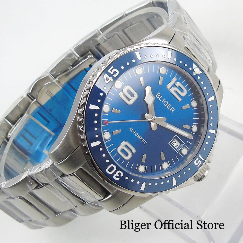 Top Brand BLIGER Sapphire Crystal Men's Watch With Automatic Self-Winding Movement 40mm Wristwatch MIYOTA Movement