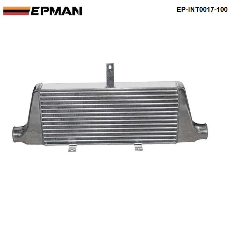 EPMAN - 76mm Universal Lightweight Aluminum Fin turbo Type Intercooler Core Size :600x280x76MM EP-INT0017-100 epman universal 2 25 inch 57mm turbo intercooler aluminum pipe silicone hose kit black length 600mm for bmw e60 ep lgtj57 600