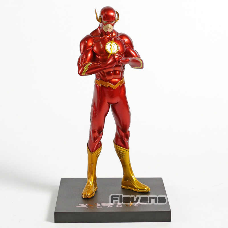 Artfx + estátua novo 52 o flash 1/10 escala pvc figura dc comics collectible modelo de brinquedo