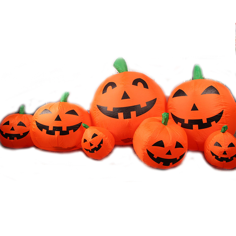 240cm Giant Pumpkin Lantern Halloween Inflatable Toys New Year Party Props For Children Christmas Gift Yard Garden Deco Blow Up halloween party supply insect shape paper lantern hanging decration