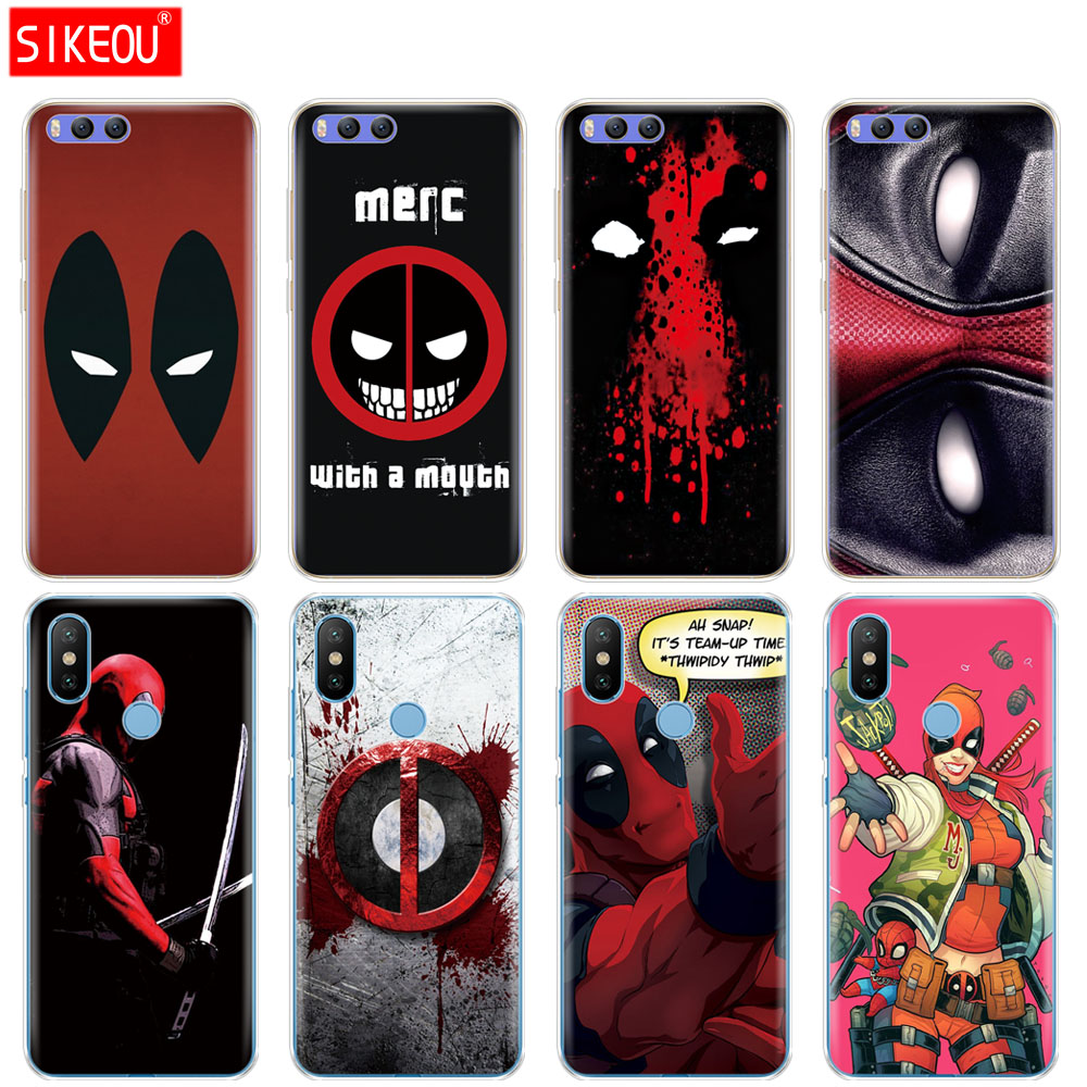 Silicone Cover Case For Xiaomi Mi A1 A2 5 5S 5X 6 Mi5 MI6 NOTE 3 MAX Mix 2 2S deadpool Heroes Sanp