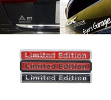 3D Chrome Black Metal Sticker Car Styling Limited Edition Emblem Badge Motorcycle Decal For Audi Q3 A4 Q5 A6 A4L A6L R8 Q7 3d metal limited edition auto car sticker badge decal stickers chrome emblem for all car styling