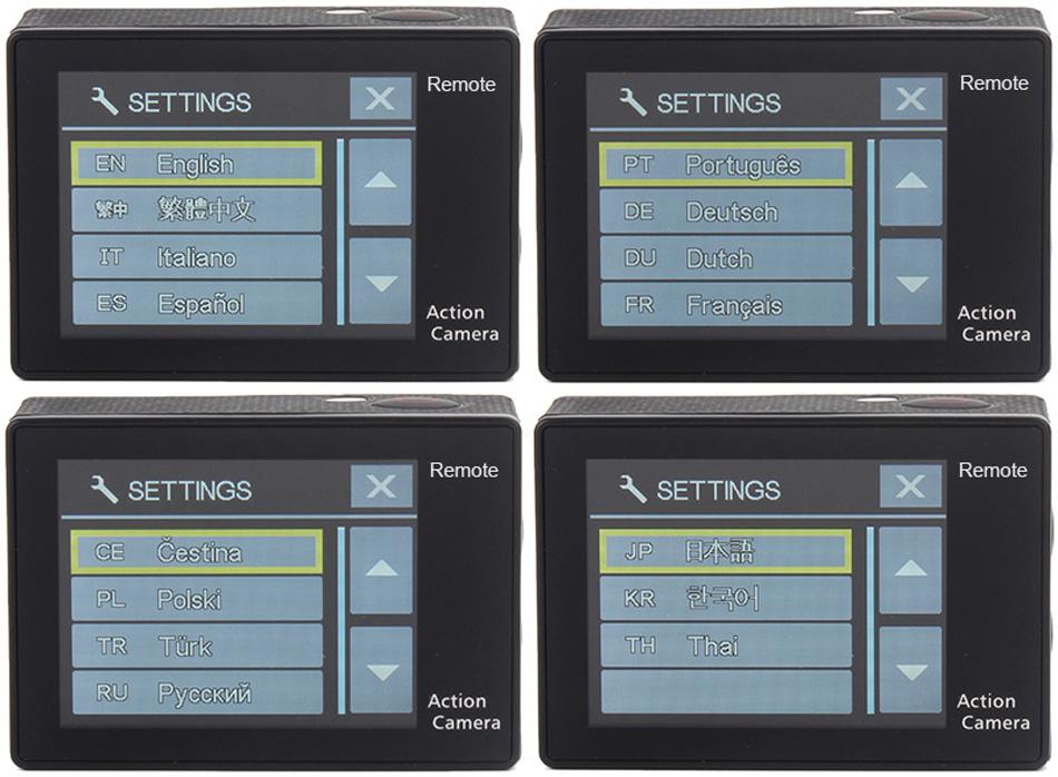 """EKEN H9R/H9 Ultra HD 4 K/30fps WiFi 2,0 """"170D impermeable bajo el agua 17"""