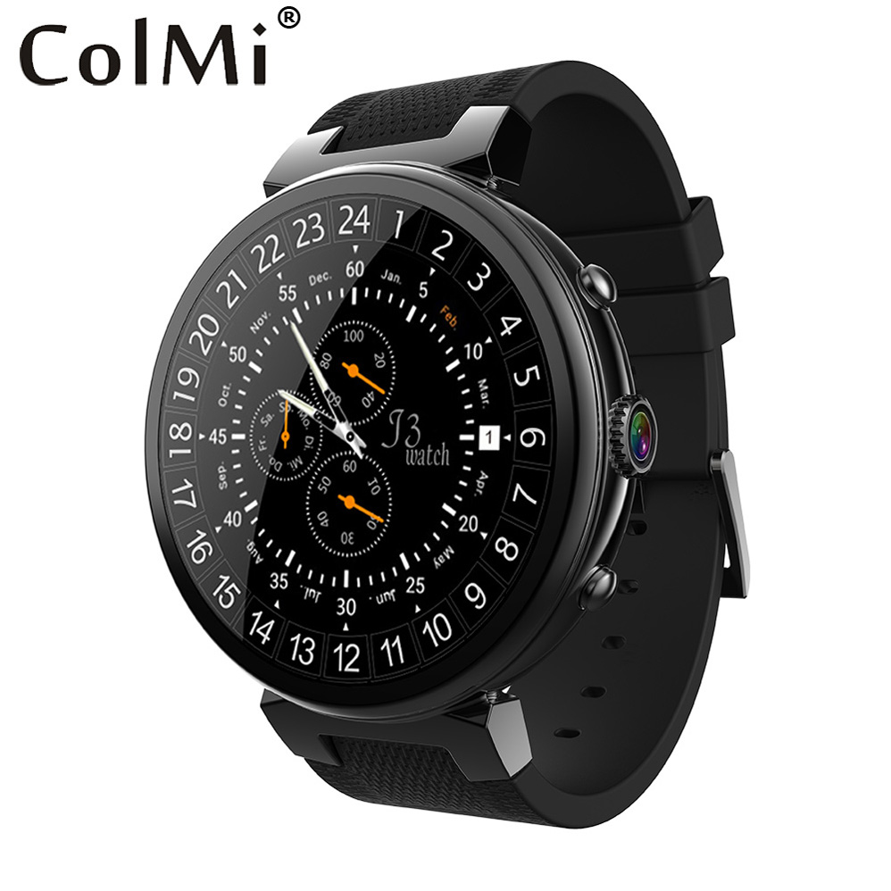 ColMi Smart Watch Android 5.1 GPS WIFI Heart Rate Monitor 2MP Camera Phone Call Sleep Monitor Smartwatch For Android IOS Phone i3 android 5 1 smart watch for android phone sync sms pedometer heart rate monitor wifi gps smartwatch silicone sport wristband