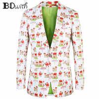 2019 nueva chaqueta de hombre con estampado de Casa Casual de manga larga con cuello entallado abrigo de hombre para fiesta novio vacaciones