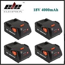 4x New Eleoption 4000mAh 18V Li ion Rechargeable Power Tool Battery for RIDGID R840083 R840085 R840086