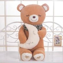 night moon bear large 70cm plush toy slepping teddy bear doll soft throw pillow Christmas birthday