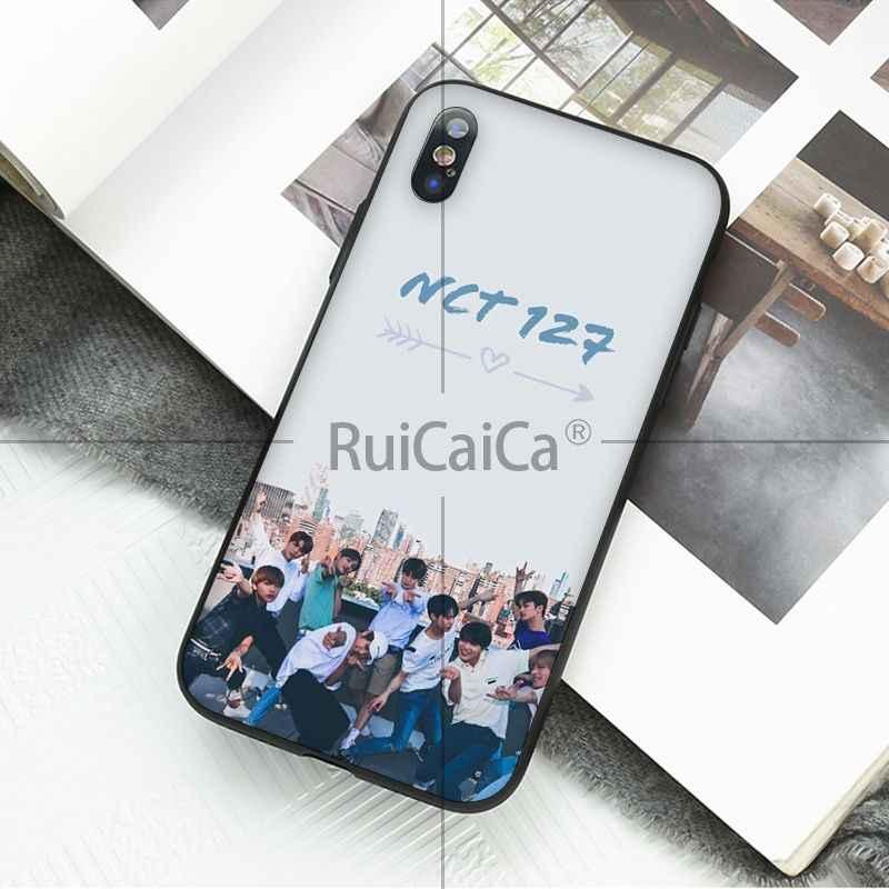 Ruicaica NCT U 127 حلم أسود لينة قذيفة الهاتف غطاء ل فون X XS ماكس 6 6 S 7 7 زائد 8 8 زائد 5 5 S XR