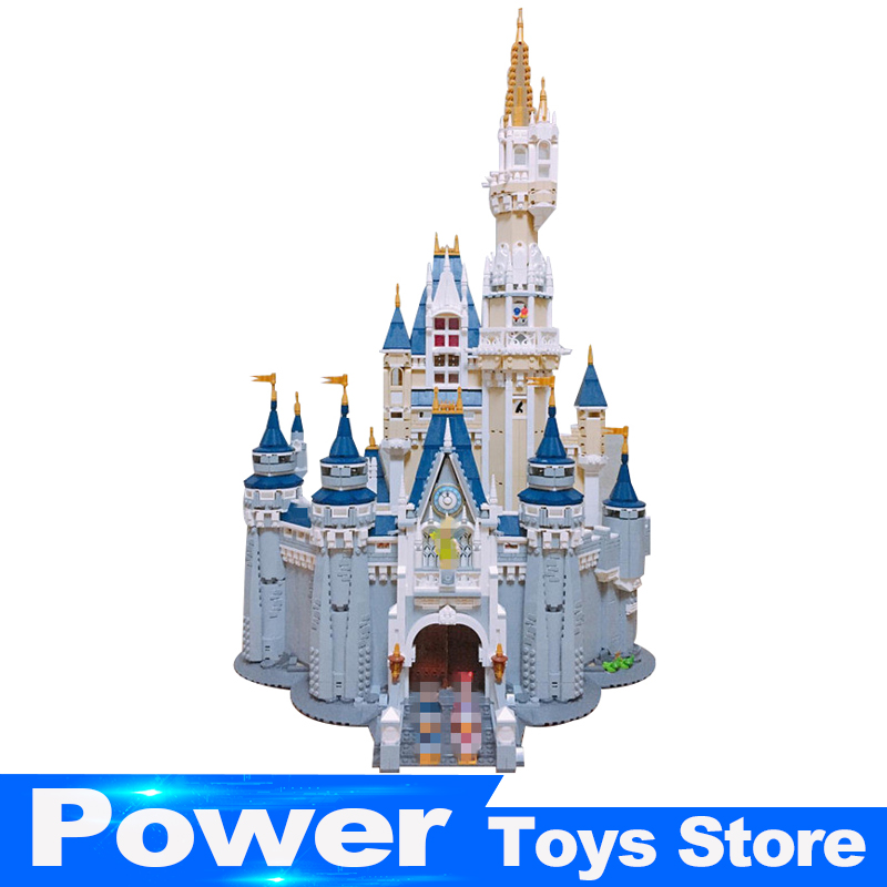 LEPIN 16008 Cinderella Princess Castle City set 4080pcs Model Building Block Kid DIY Toy Funny Birthday Gift Compatible 71040 lepine 16008 cinderella princess castle 4080pcs model building block toy children christmas gift compatible 71040 girl lepine