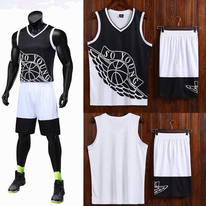 52c018ce501 ... ZMSM High quality Men Basketball Jerseys Set Spell Color Basketball  uniform SO YOUNG letter printing Sportswear ...