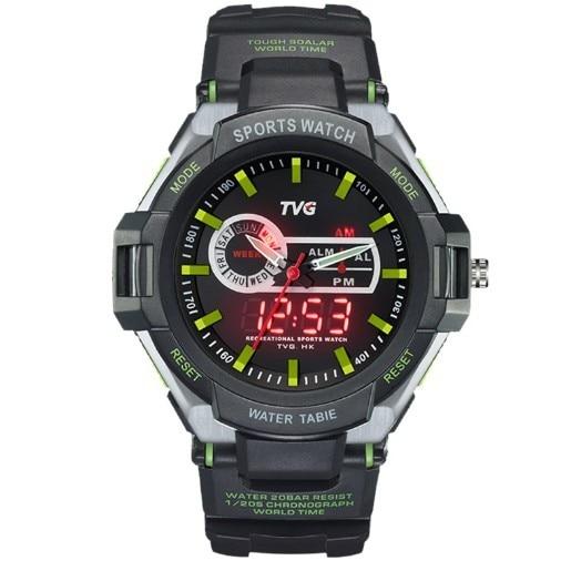TVG Brand font b Dual b font font b Display b font watches analog digital date