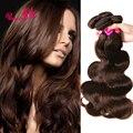 SOFT Dark Brown Indian Virgin Hair Body Wave 4 Bundle Deals 7a Grade Unprocessed Human Virgin Hair Indian Hair Weave Bundles