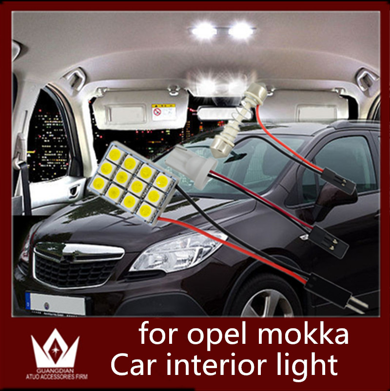 GuangDian 6pcs car led light interior light Kit Reading light 12SMD Roof Lamp 12V Dome bulb For Opel Mokka accessories 2012-2015