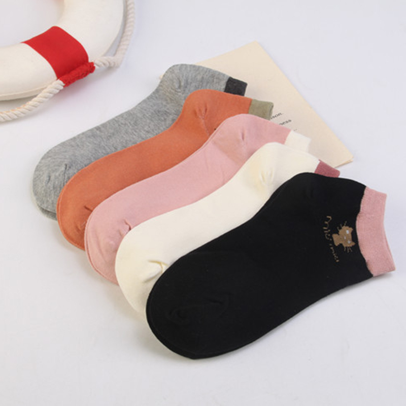 SOFIBERY New   Socks   Spring, summer, autumn and winter   socks   for women cute cartoon cat short   socks   Women's   Socks   SK6