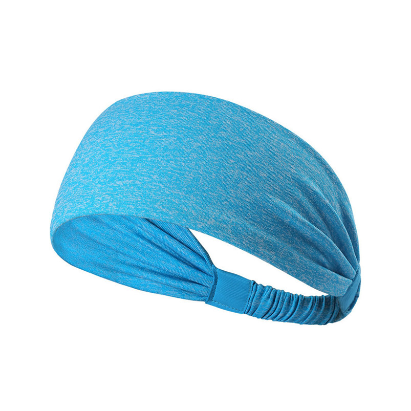 New Wide Sports Headbands Breathable Durable Stretch Elastic Yoga Running Headwrap Hair Band Sports Safety Sweatband #4S19 (5)