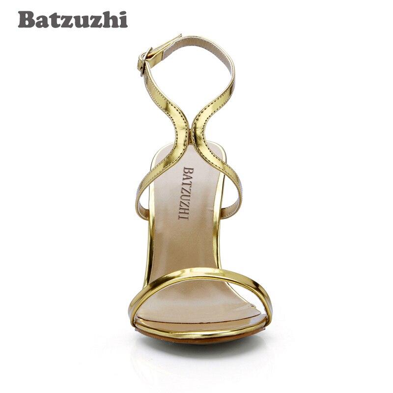 À Gladiateur Sexy Taille Parti 43 Or Femmes Batzuzhi Mode Sandales En Talons Cuir Stripper Chaussures Grande D'été nznOHqPI
