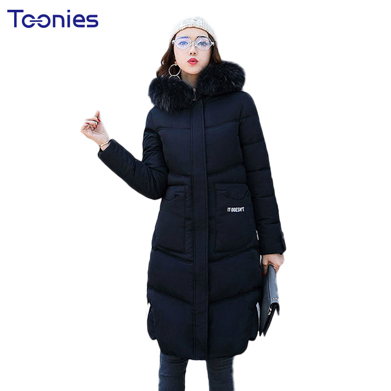 Plus Size Winter Hooded Maternity Down Coat for Pregnant Women Clothes Letter Print Zipper Pregnancy Maxi Outerwear Fur Collar