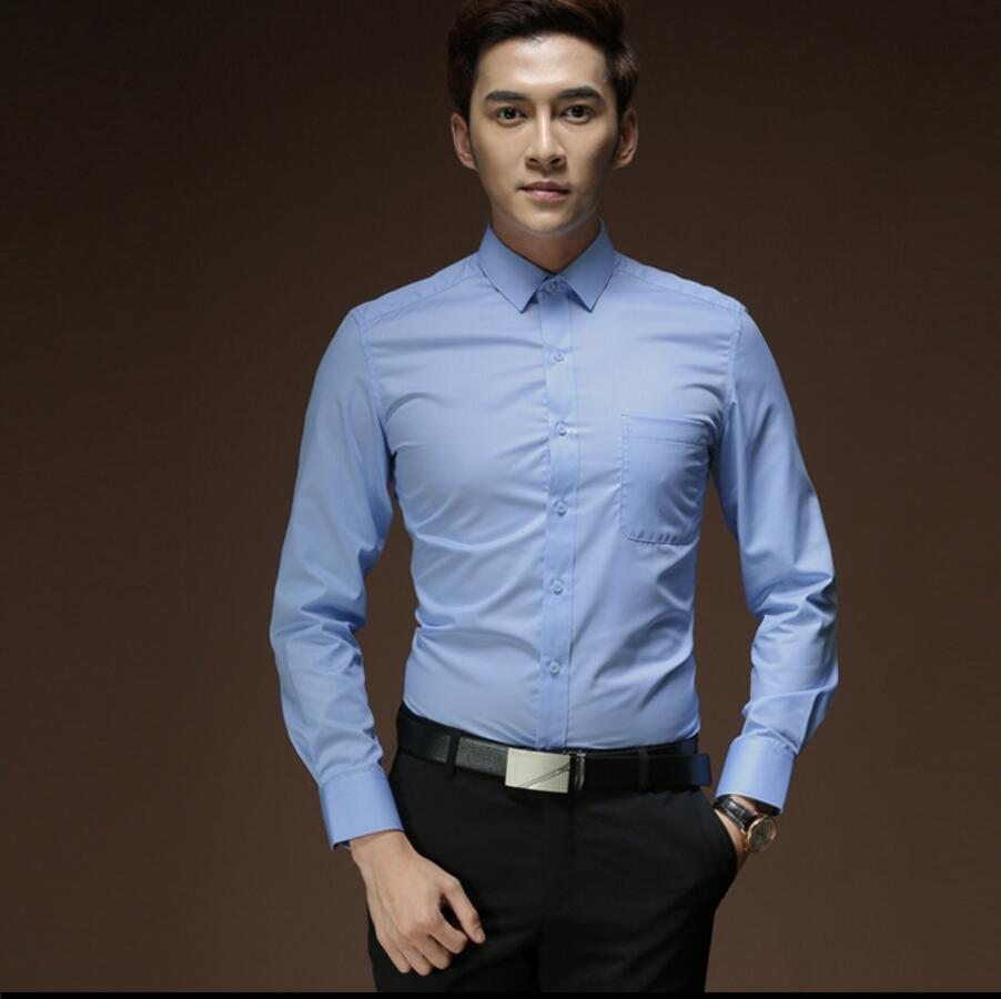 Fashion style men\'s shirt with long sleeves formal wedding the ...