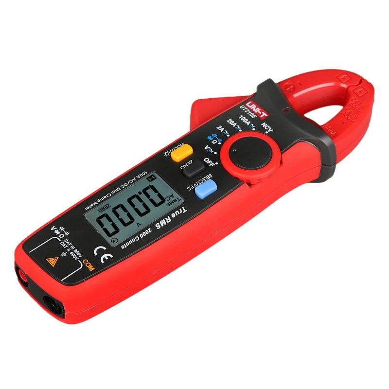UT210E Current DC AC Contact UNI Digital Auto Voltage Mini True RMS Range Non Capacitance VFC Multimeter Tester Meters T Clamp