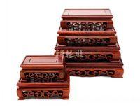 Оптовая Продажа Красный Дерево ремесел нефрита украшения нечетные камень уплотнение древесины пьедестал ноги прямоугольный стол палисанд