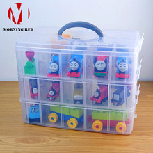 Купить с кэшбэком Large Plastic Case Toys for Children Lego Storage Box Makeup Organizer Hardware Accessories Toolbox Suitable Home Free Shipping