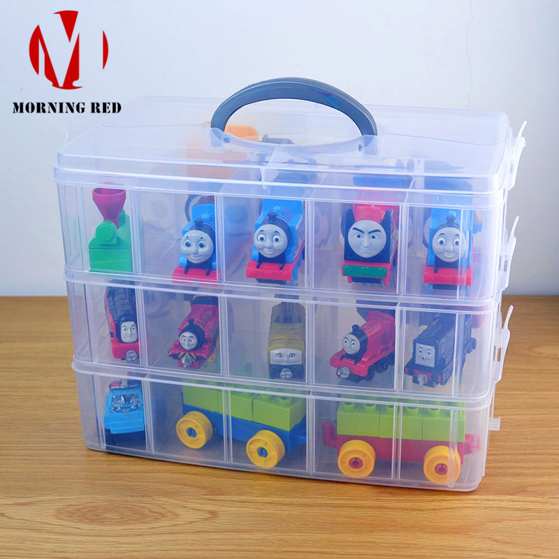 Large Plastic Case Toys for Children Lego Storage Box Makeup Organizer Hardware Accessories Toolbox Suitable Home Free Shipping