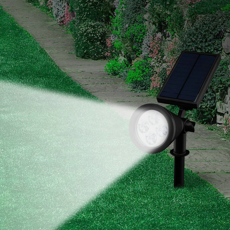 Led solar powered spotlight rechargeable lawn lights waterproof led solar powered spotlight rechargeable lawn lights waterproof outdoor wall pathway stake lighting for landscape lawn garden in led lawn lamps from workwithnaturefo
