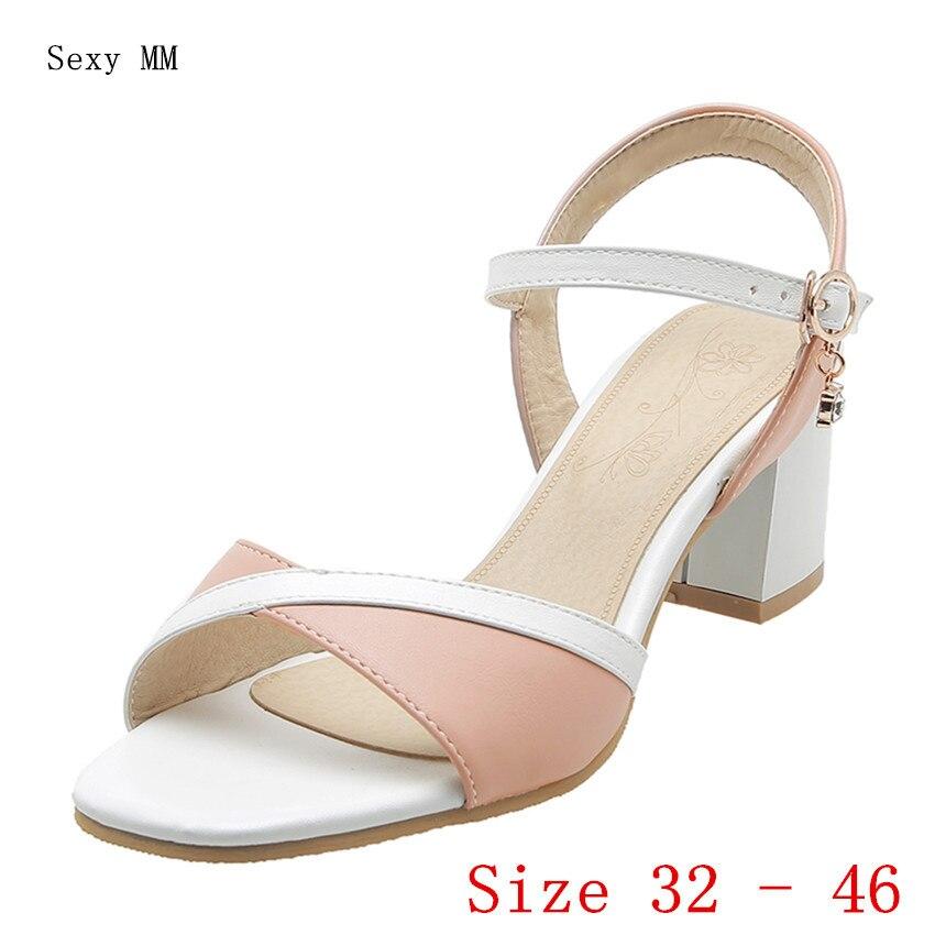 Peep Toe Women High Heel Sandals Shoes Woman High Heels Gladiator Sandals Pumps Small Plus Size 32 33 - 40 41 42 43 44 45 46
