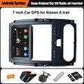 Reprodutor multimídia Carro de Navegação GPS Do Carro atualizado Originais Terno para Nissan X trail-Suporte WiFi Smartphone Espelho-link Bluetooth