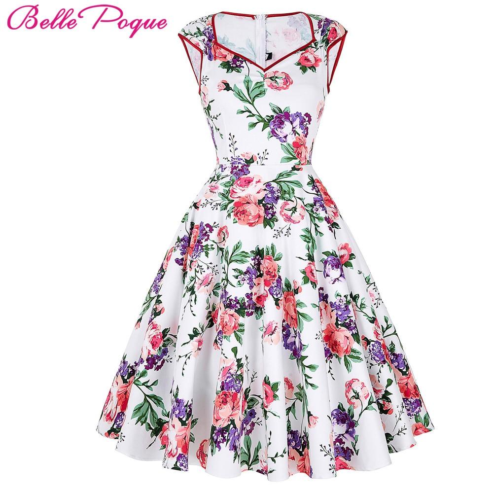 Belle Poque Květinový tisk Dámské šaty 2018 Léto Neformální - Dámské oblečení