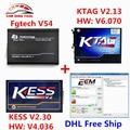 Conjunto completo FGTECH V54 FGTECH Galletto 4 Master + SW V2.30 Kess V2 V2.13 V4.036 + V6.070 K TAG KTAG K-TAG ECU Programador DHL livre