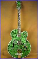 New Custom G Super400 Maple Body/Top Ebony Fingerboard Green Burst
