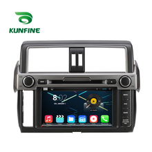 Quad Core 1024*600 Android 5.1 Car DVD GPS Navigation Player Car Stereo for TOYOTA New Prado 2014 Radio 3G WIFI Bluetooth