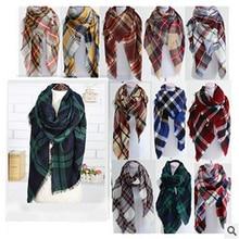 za winter scarf 2016 Tartan Scarf women 140*140cm Plaid Scarf cuadros New Designer Unisex Acrylic Basic Shawls warm bufandas