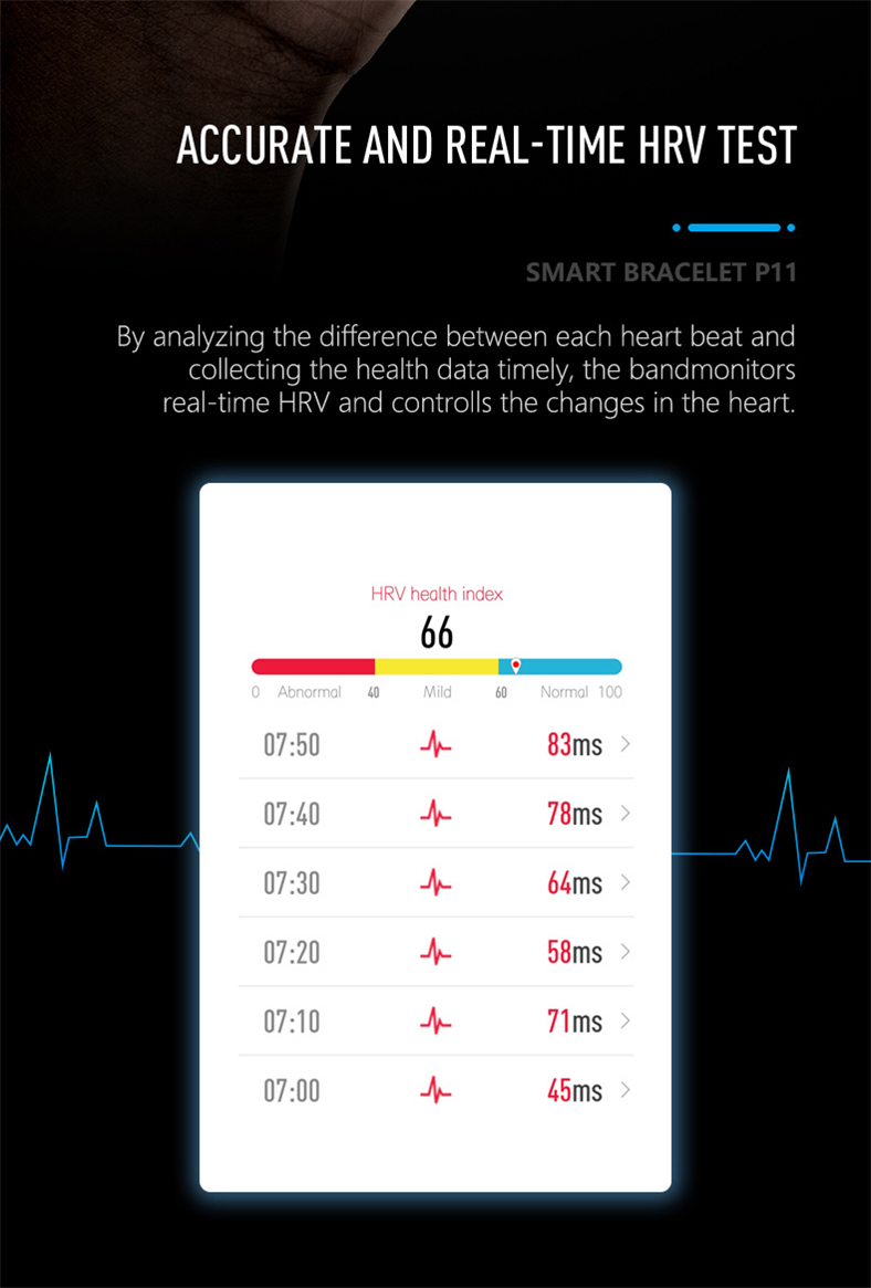 HTB1pzXwQXYqK1RjSZLeq6zXppXaV P11 Smart Bracelet Sport Smart Watch Men Women Smartwatch ECG Bluetooth Wristband Heart Rate Monitor Call Message Reminder Band